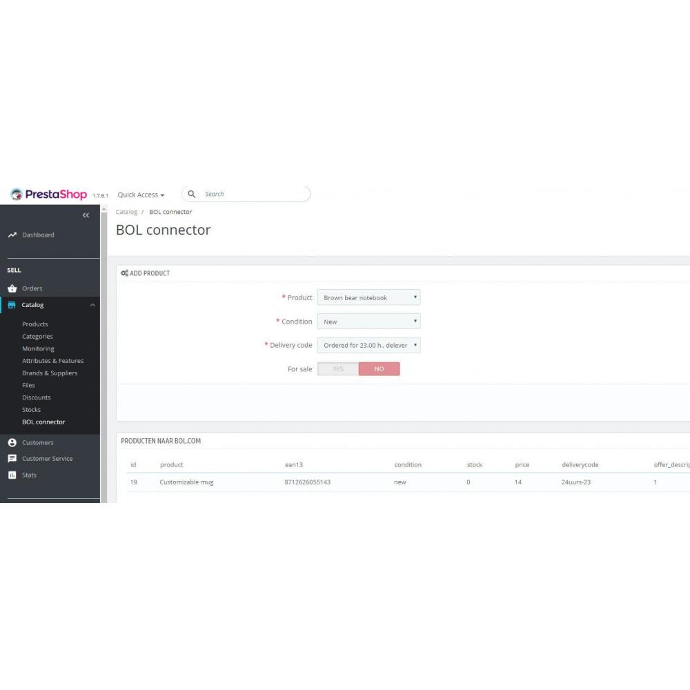 module - Revenda (marketplace) - BOL Connector - 2