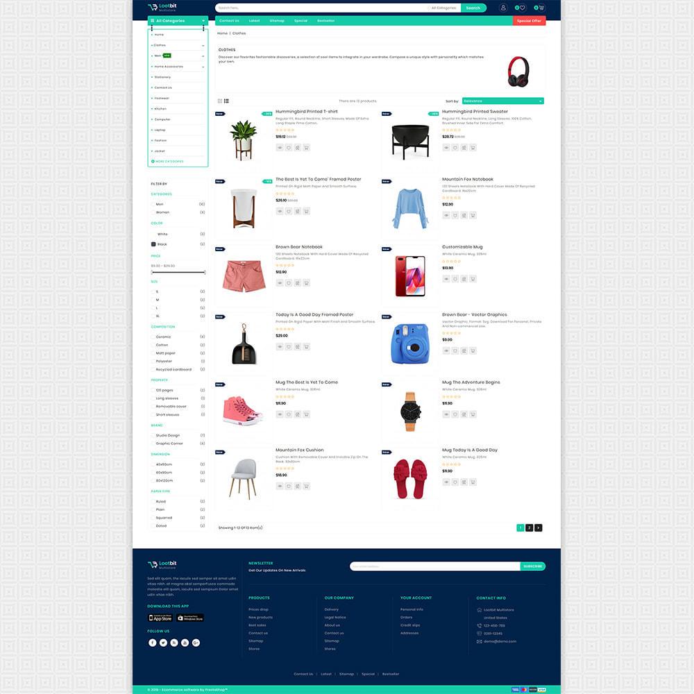 theme - Elektronik & High Tech - Lootbit - Multi Store Theme - 4