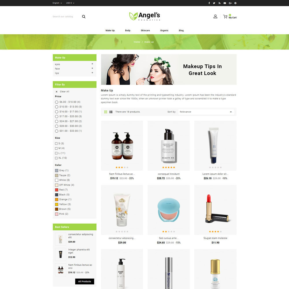 theme - Health & Beauty - Angels eCosmetic Store - 3