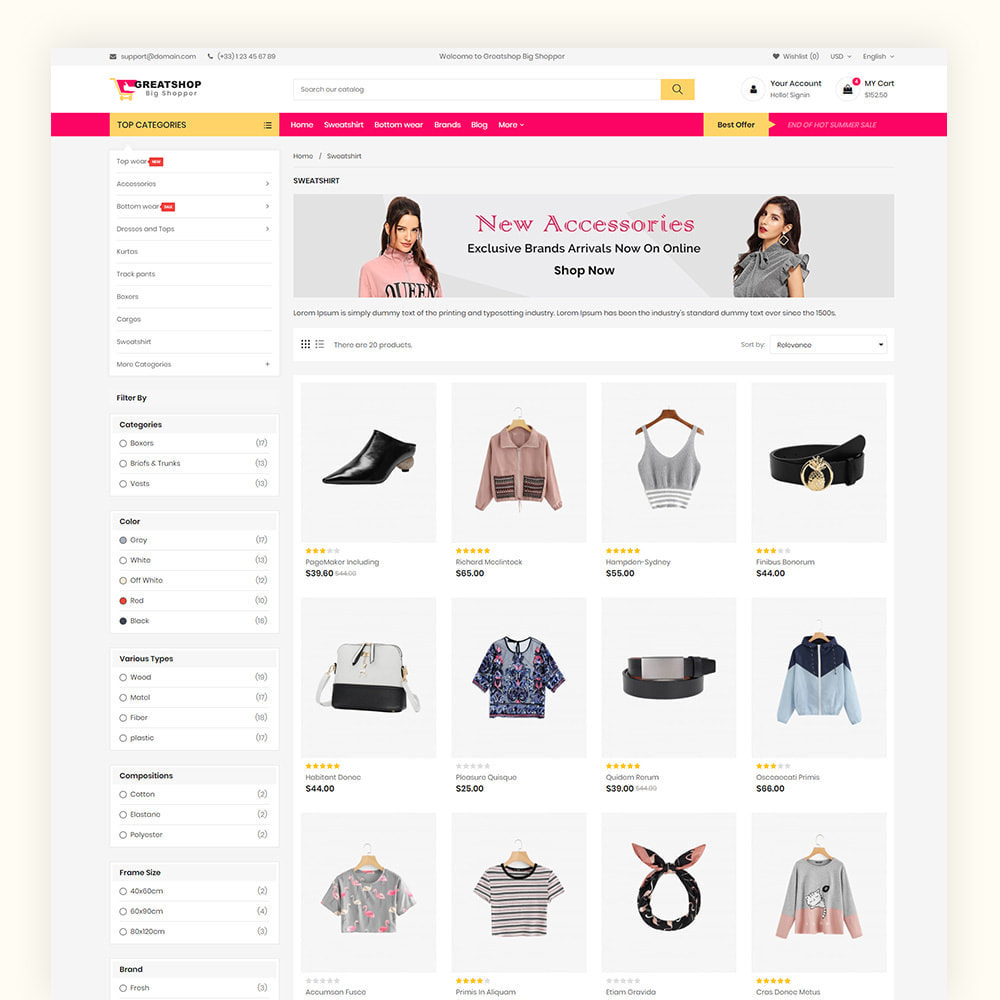 theme - Mode & Chaussures - Greatshop Mega Fashion Store - 5
