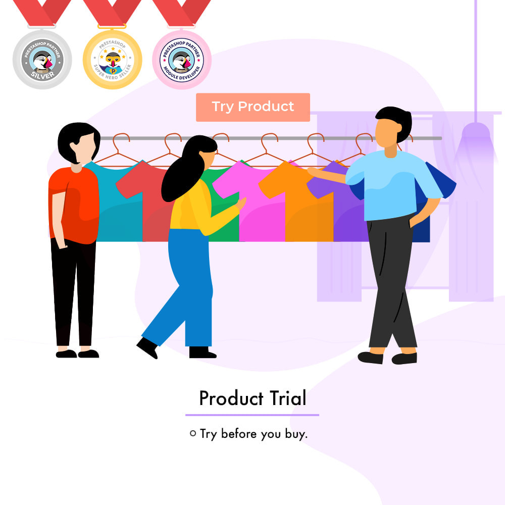 module - Déclinaisons & Personnalisation de produits - Product Trial | Try Before Purchase - 1