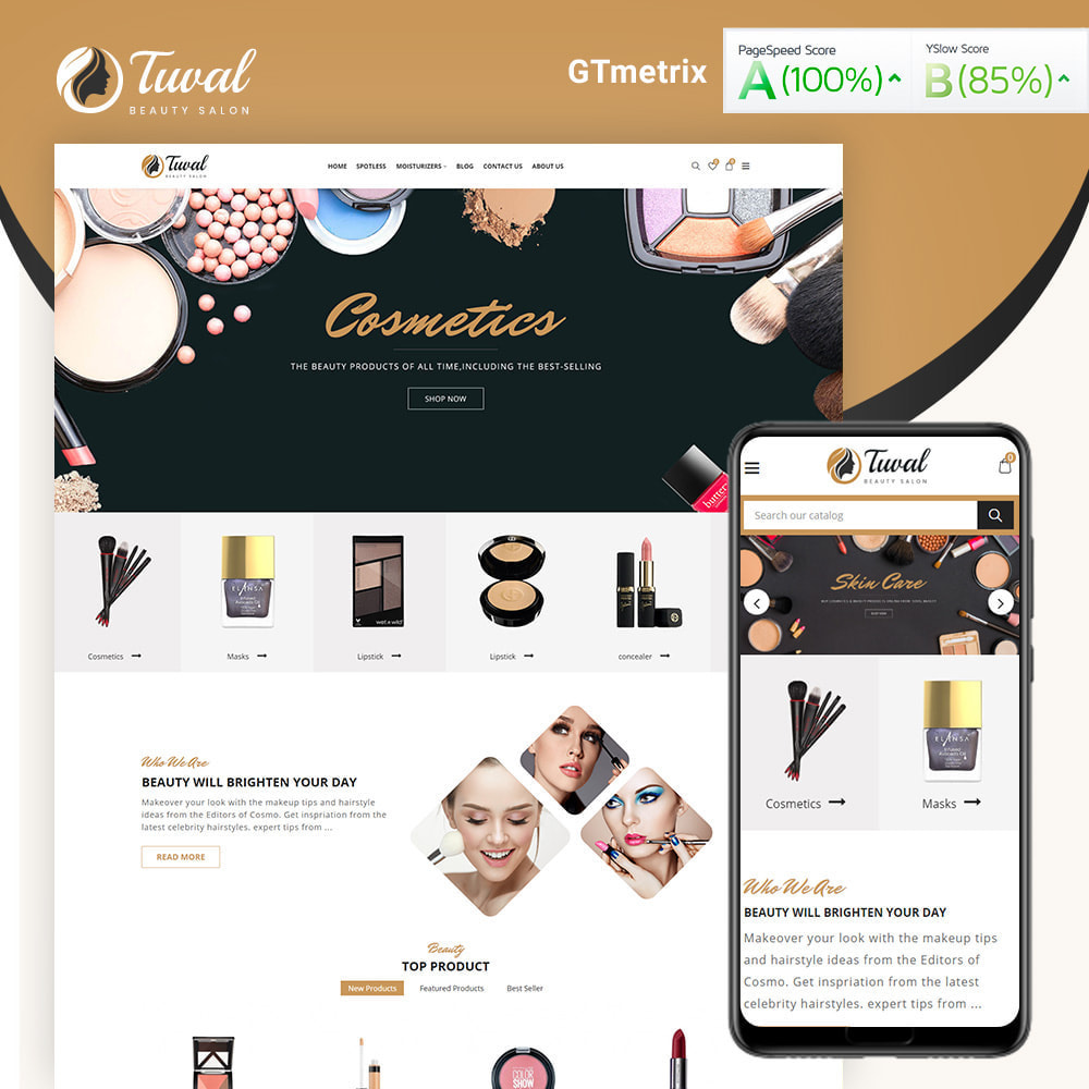 theme - Gesundheit & Schönheit - Tuval Beauty Salon Cosmetics Store - 1