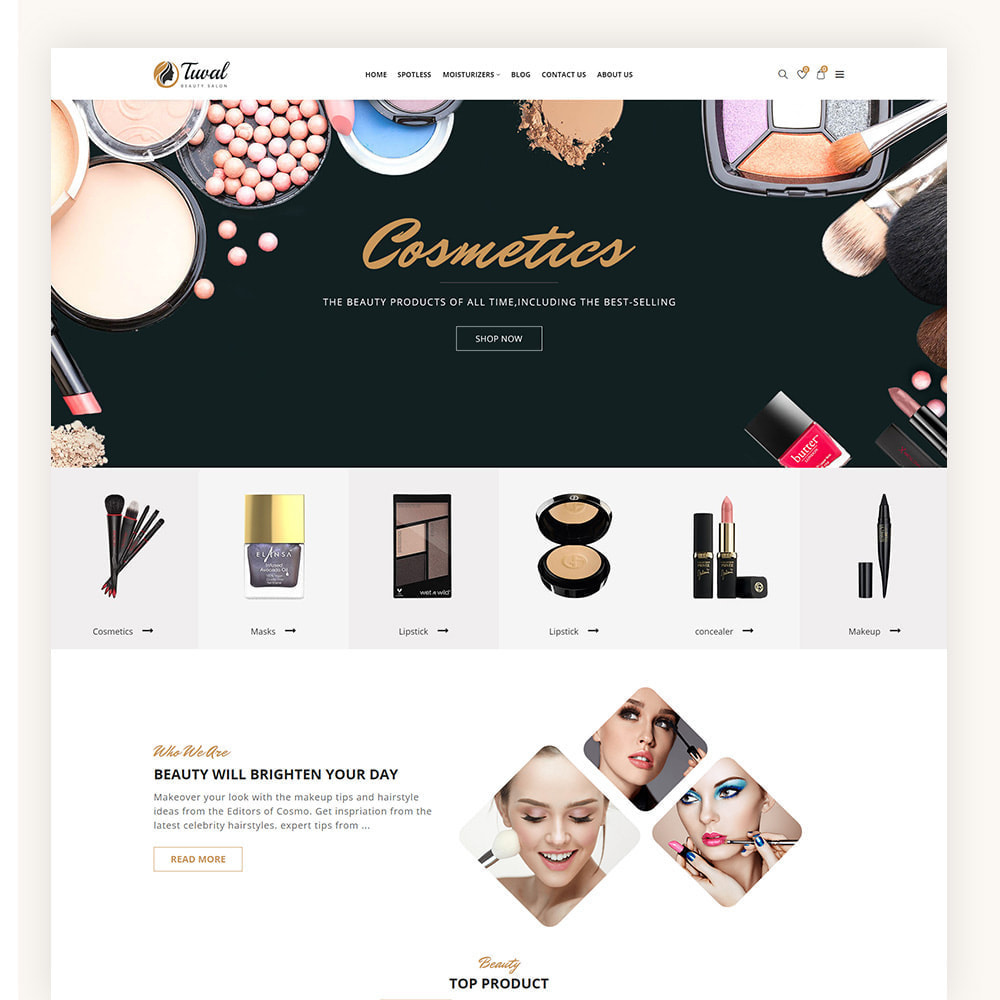 theme - Salud y Belleza - Tuval Beauty Salon Cosmetics Store - 2