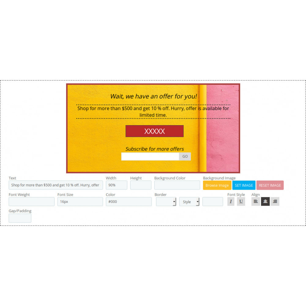 module - Pop-up - Exitpopup Manager, Newsletter Popup and Promotion Popup - 3