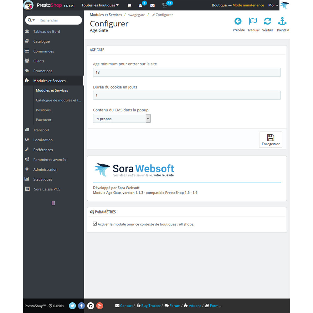 module - Sécurité & Accès - Module Vérification d'age des visiteurs - 2