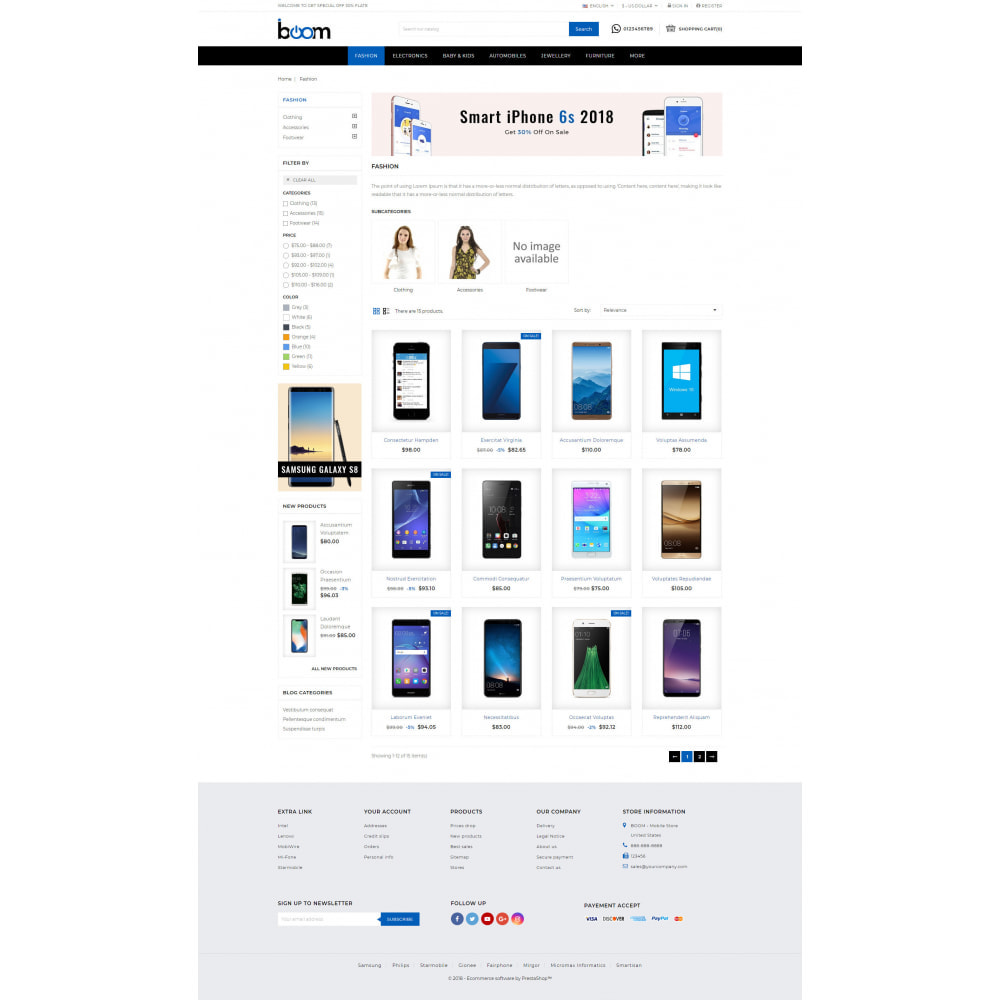 theme - Электроника и компьютеры - BOOM - Mobile Store - 3