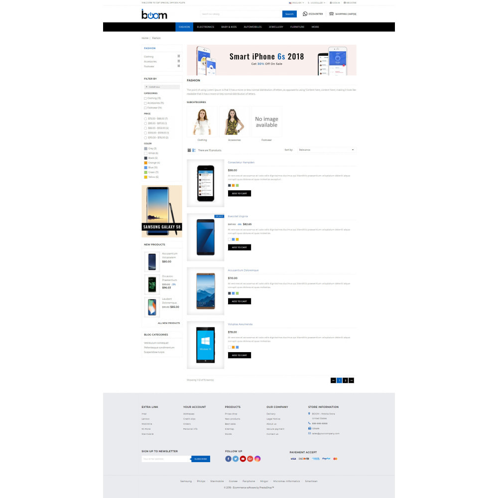 theme - Электроника и компьютеры - BOOM - Mobile Store - 4