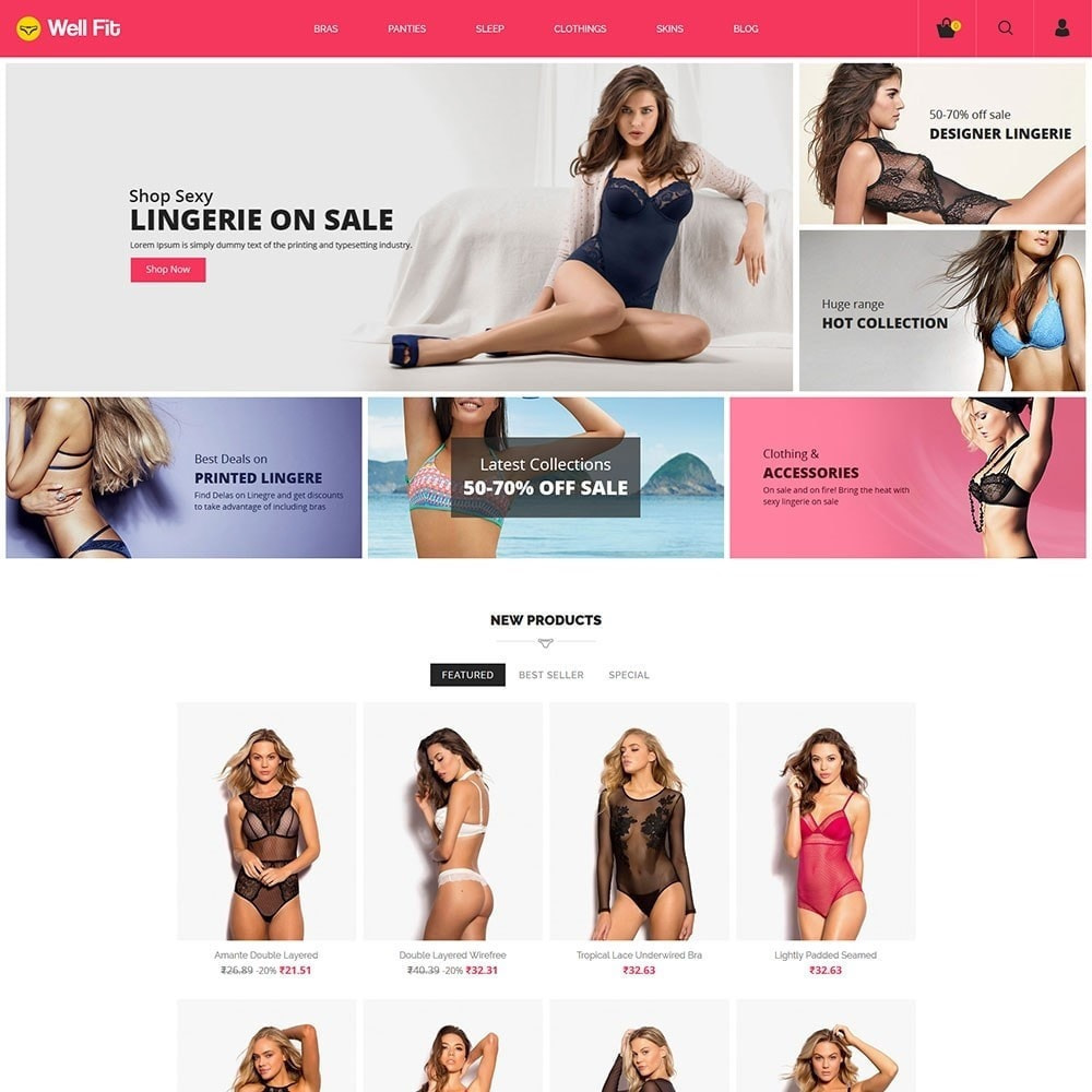 theme - Lingerie & Adult - Bra Panties - Lingerie Fashion Store - 3
