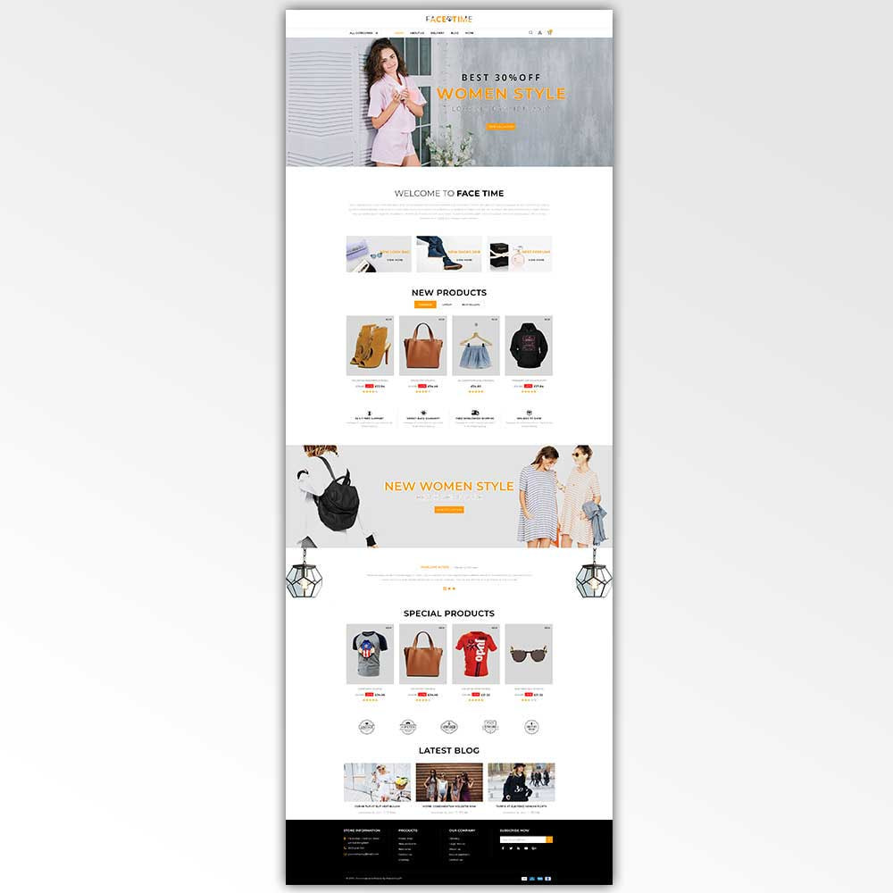 theme - Мода и обувь - Facetime - Online Fashion Store - 2