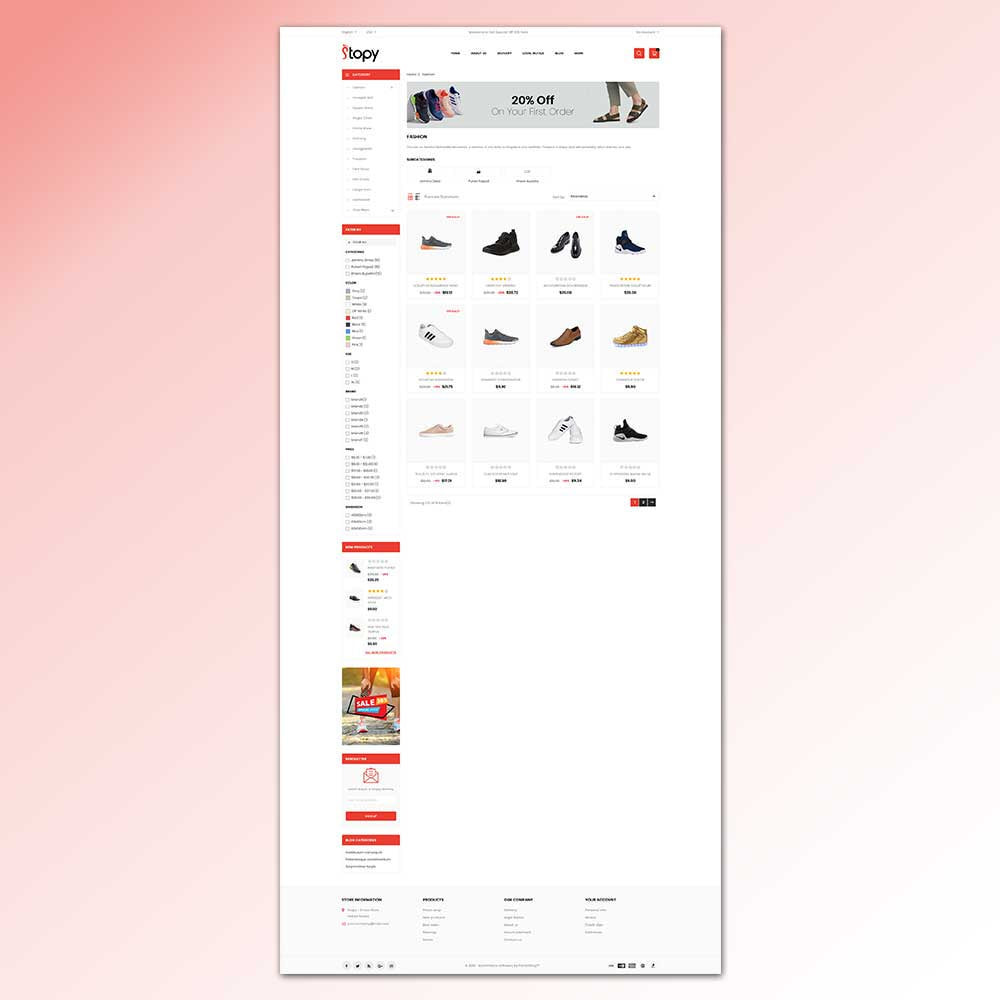 theme - Fashion & Shoes - Stopy - Shoes Store - 8