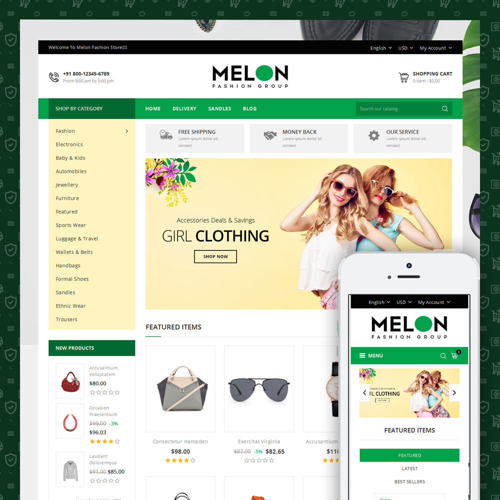 theme - Mode & Schoenen - Melon - Fashion Store - 1