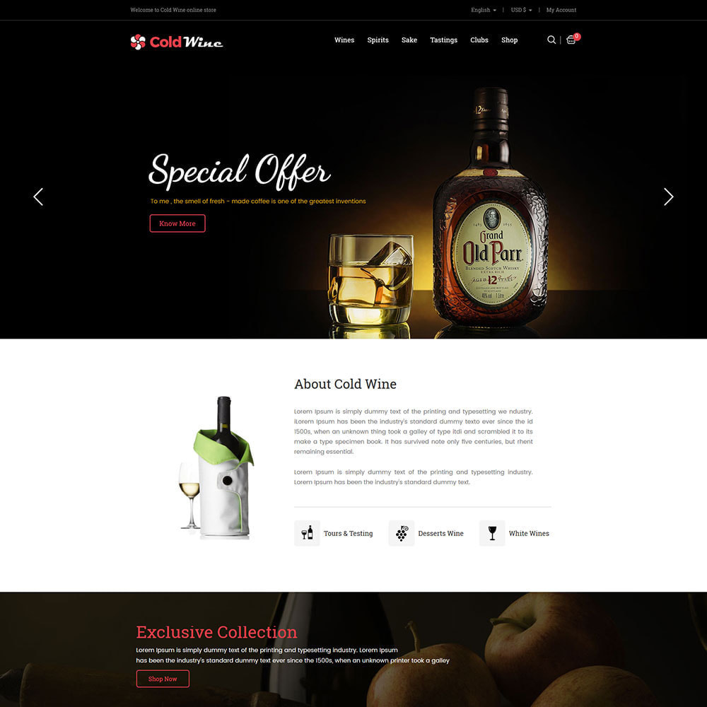 theme - Drink & Tobacco - Cold Wine - Alcohol Drink Store - 2