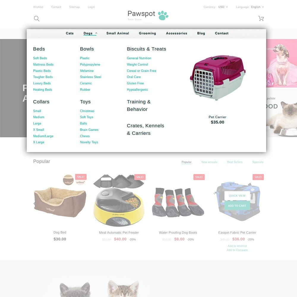 theme - Animals & Pets - Pawspot - Pets Store - 2