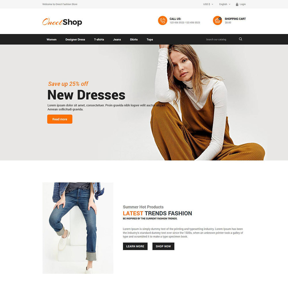 theme - Fashion & Shoes - Onect Apparels  - Fashion Accessories Store - 2