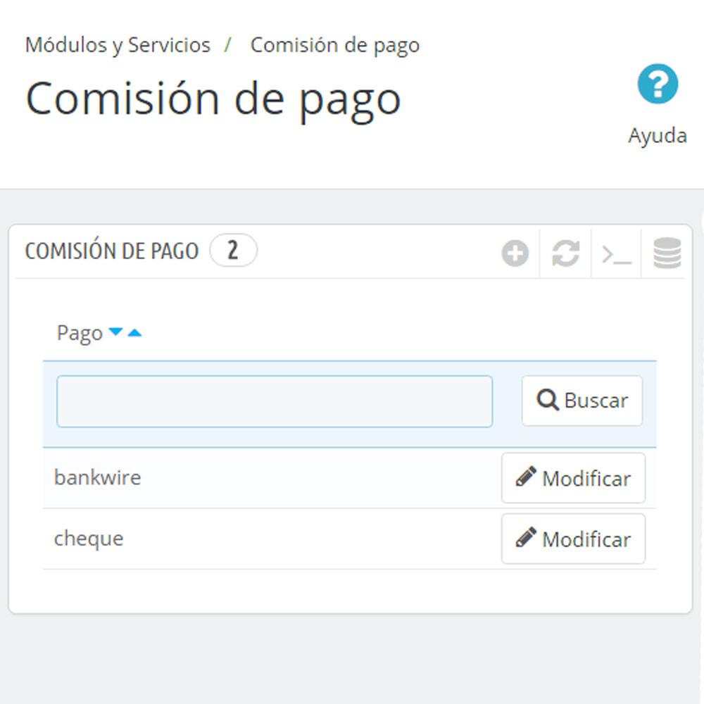 module - Pago a la Entrega (contrarrembolso) - Comisión de los métodos de pago - 7