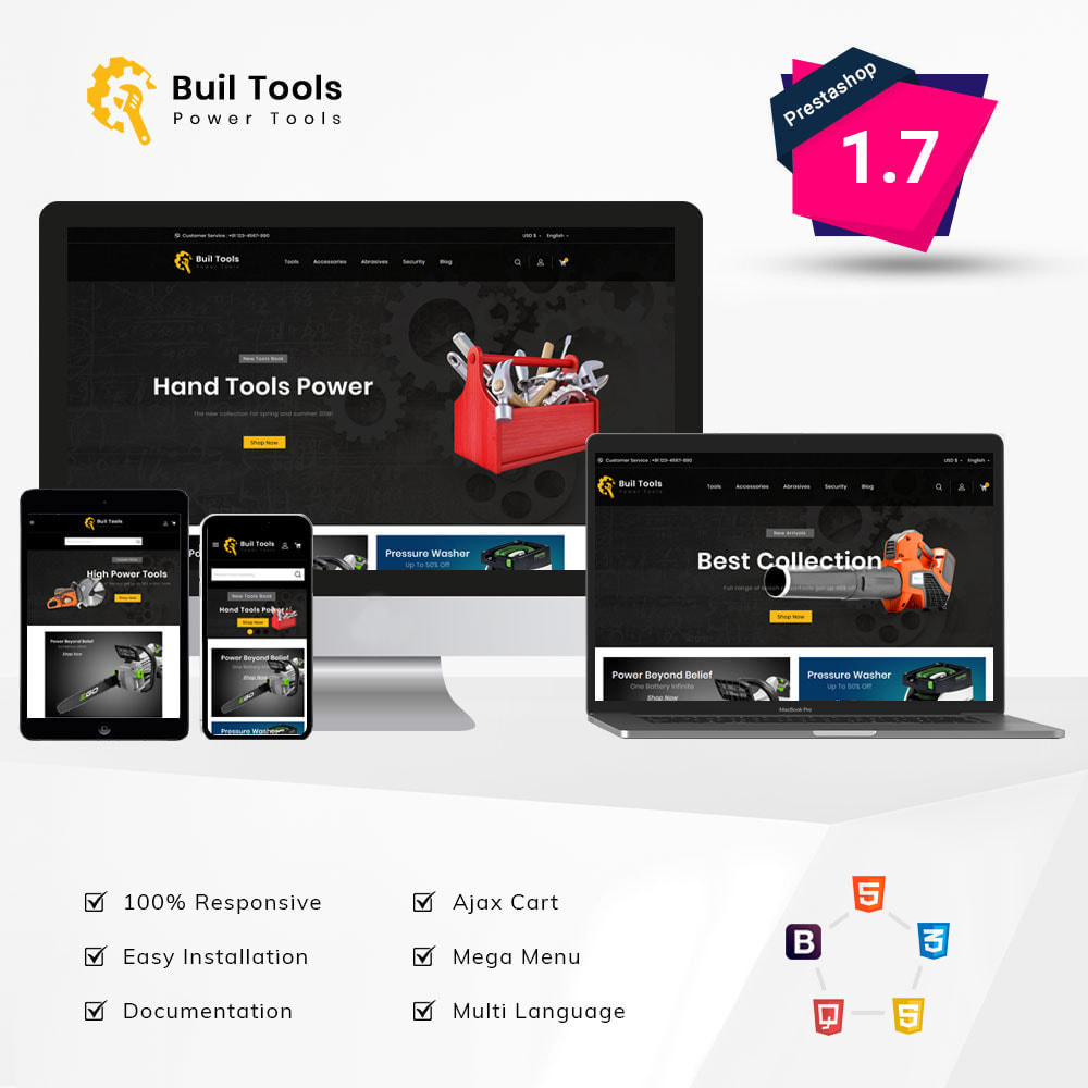 theme - Automotive & Cars - Buil Tool Power Store - 1
