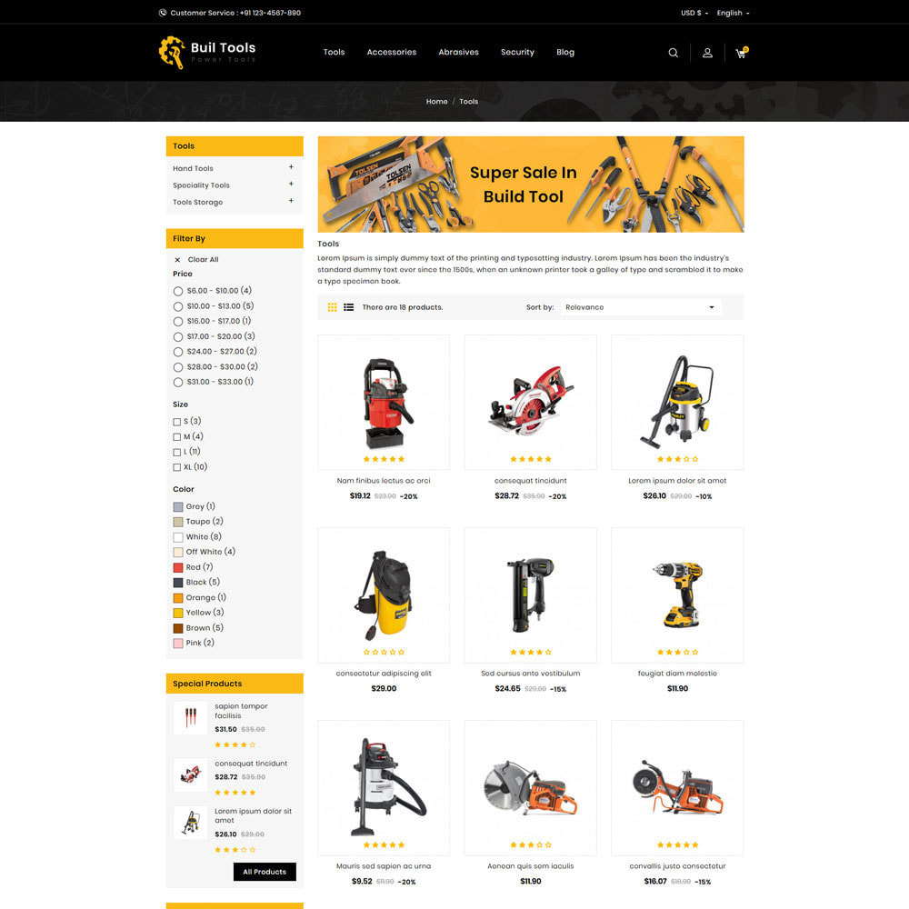 theme - Automotive & Cars - Buil Tool Power Store - 3