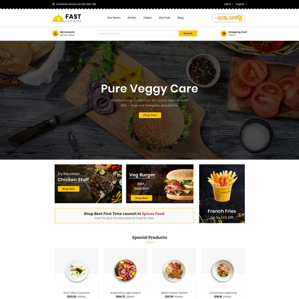 theme - Eten & Restaurant - Fast Foodies Shop - 2