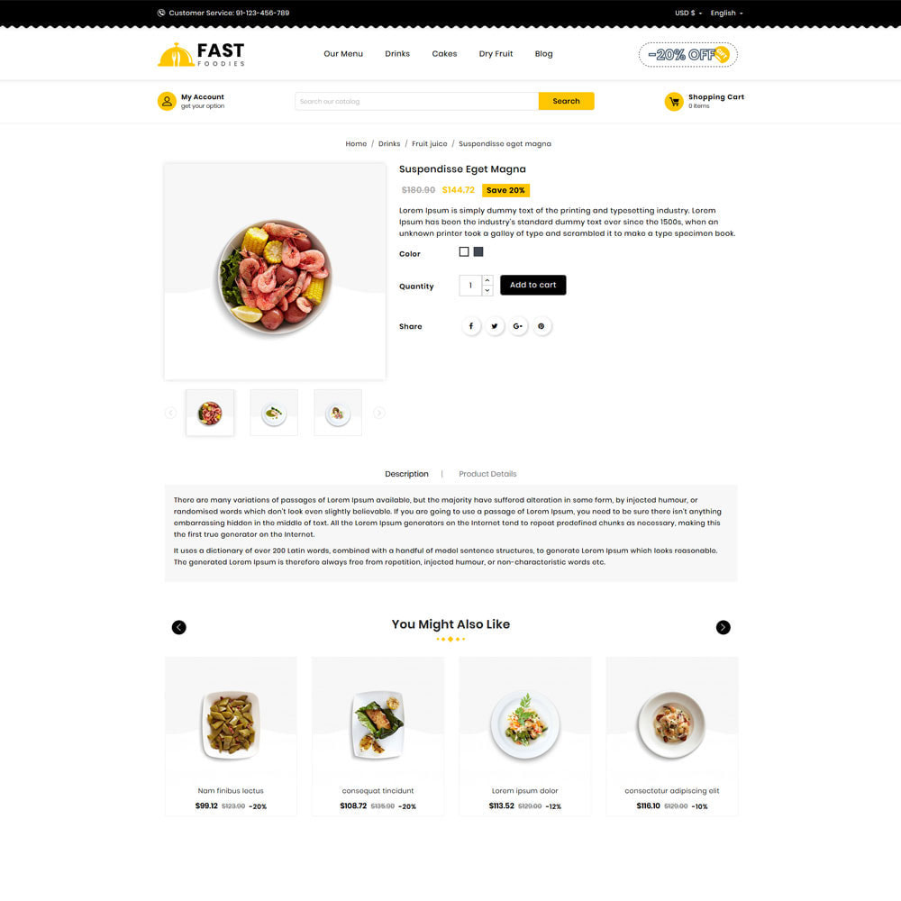 theme - Eten & Restaurant - Fast Foodies Shop - 4