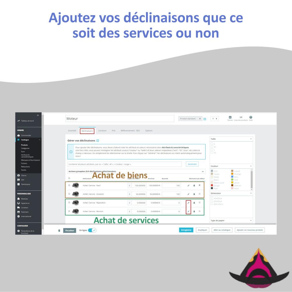 module - Déclinaisons & Personnalisation de produits - Utiliser les déclinaisons en tant que service - 4