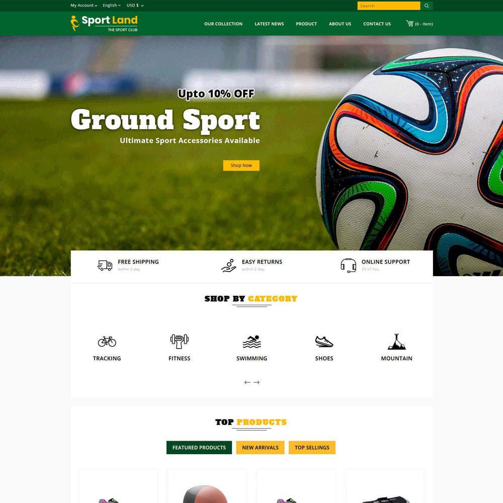 theme - Sport, Attività & Viaggi - Sport Land - Il negozio di articoli sportivi Mega - 5