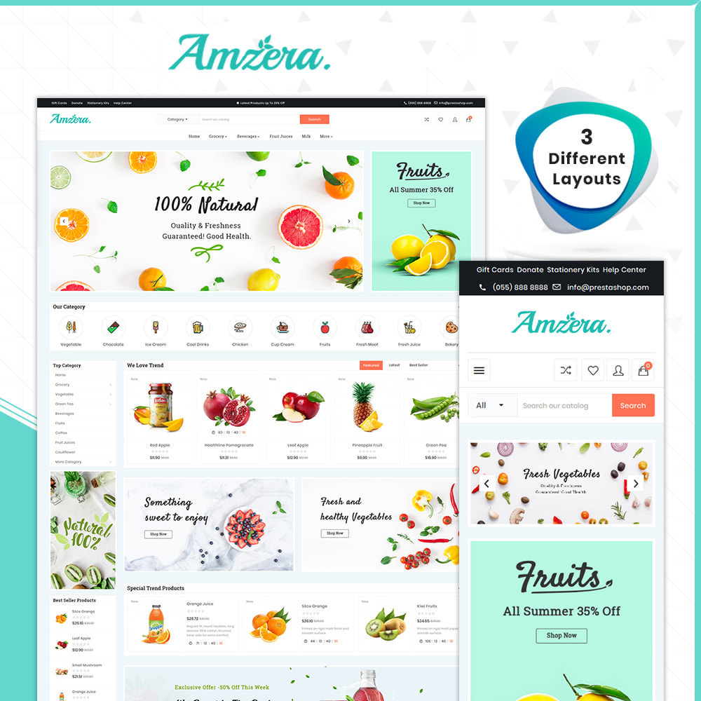 theme - Health & Beauty - Grocery Amzera - drogheria Shop - 1