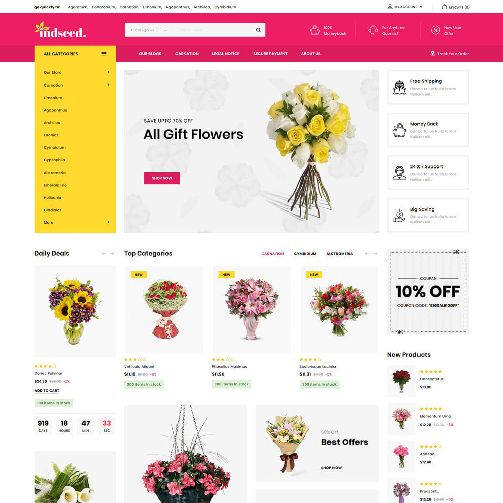 theme - Gifts, Flowers & Celebrations - Indseed - The Online Bouquet Shop - 4