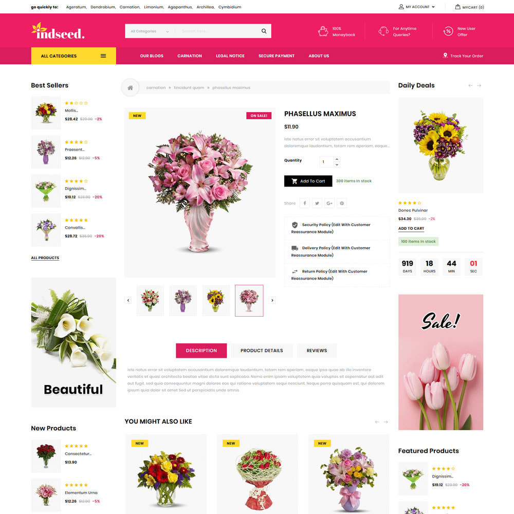 theme - Gifts, Flowers & Celebrations - Indseed - The Online Bouquet Shop - 7