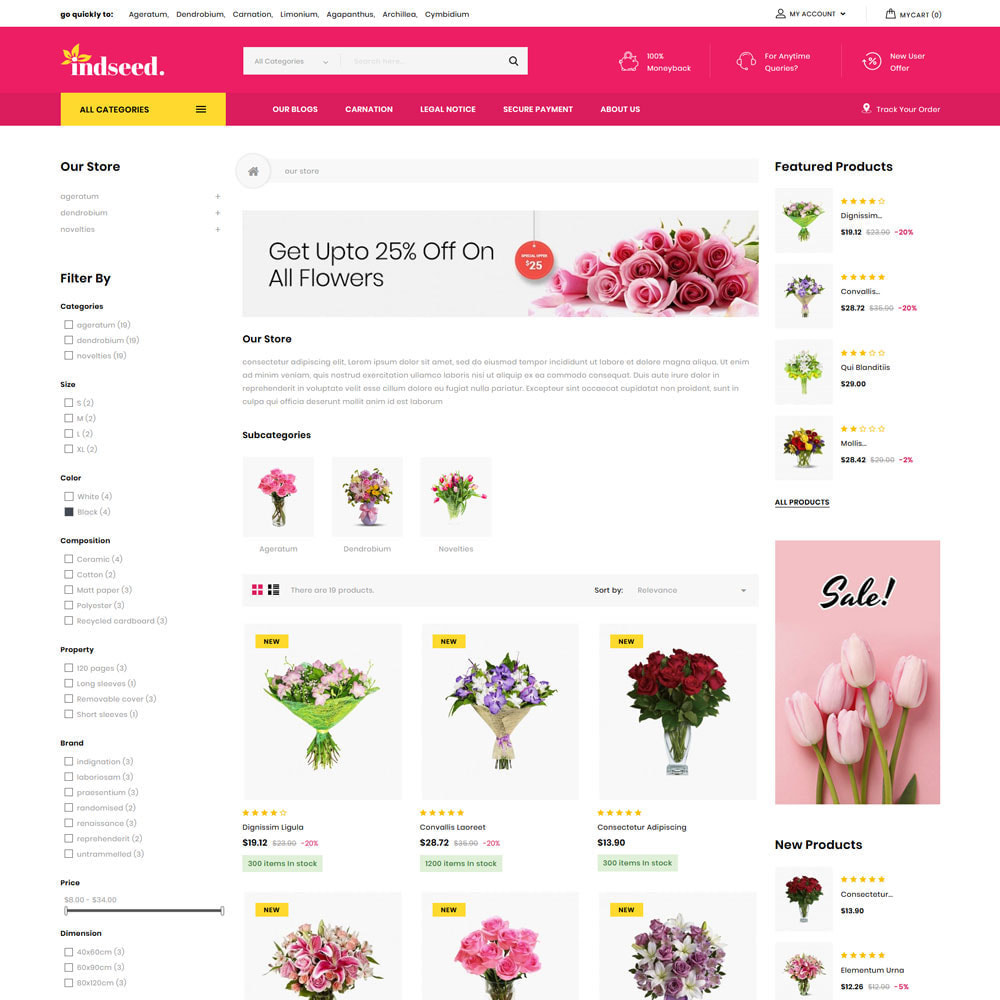 theme - Regalos, Flores y Celebraciones - Indseed - La tienda de ramo online - 6