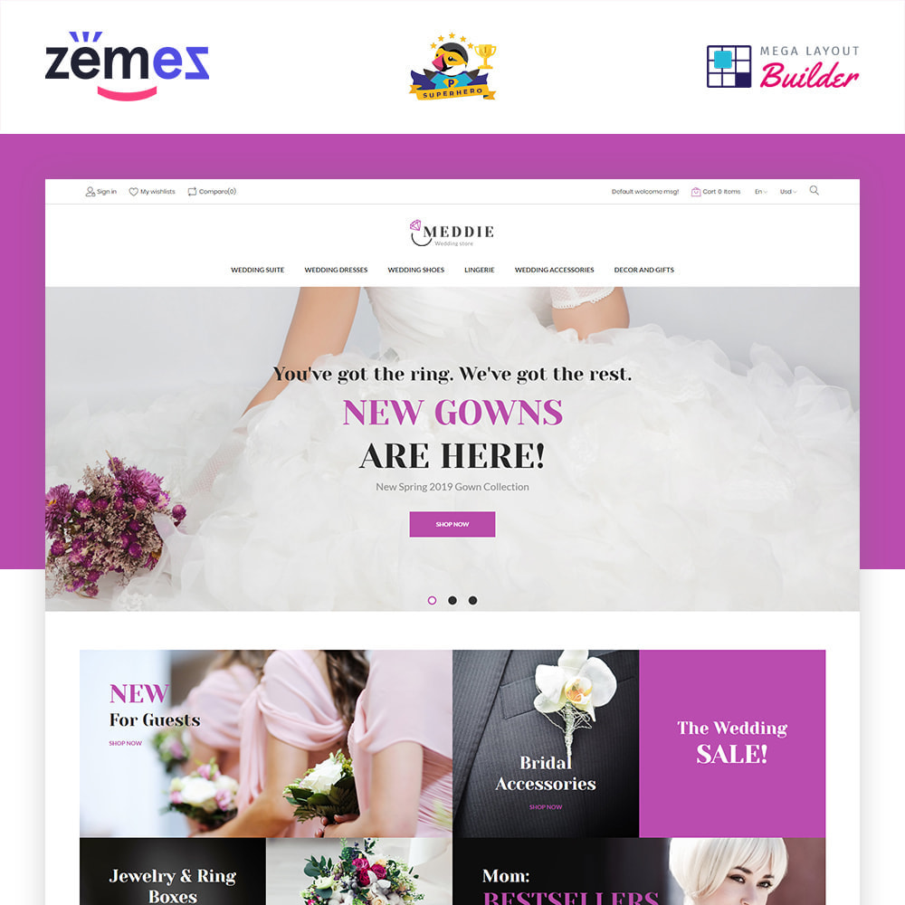 theme - Mode & Chaussures - Meddie - Wedding Shop - 1