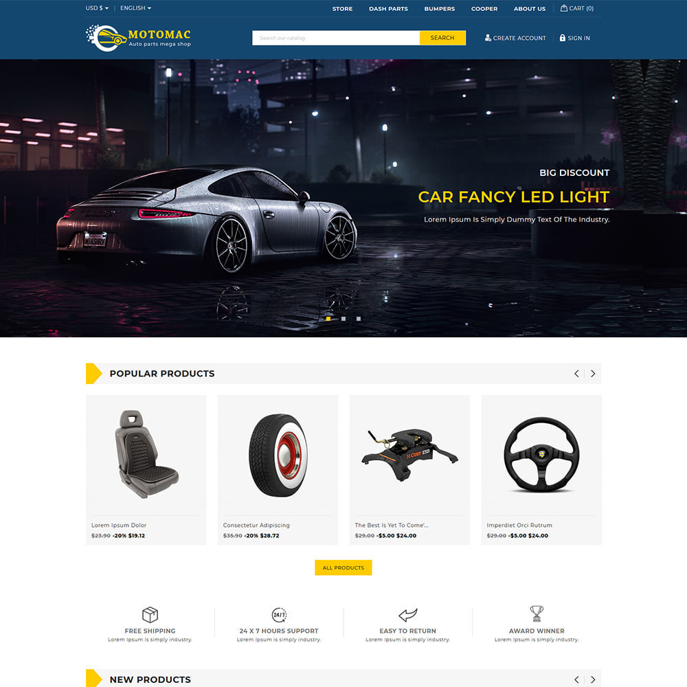 theme - Automotive & Cars - Motomac Automotive & Cars Store - 1