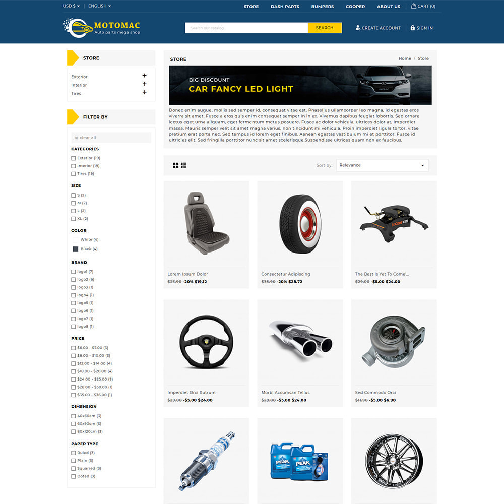 theme - Automotive & Cars - Motomac Automotive & Cars Store - 2