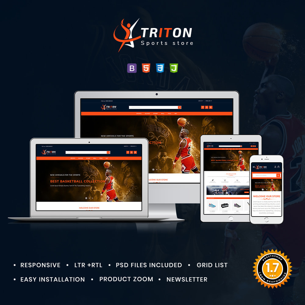 theme - Sports, Activities & Travel - Triton Sport & Activities Store - 1