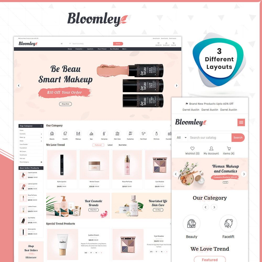 theme - Health & Beauty - Cosmatic Bloomley – Cosmatic Shop - 1
