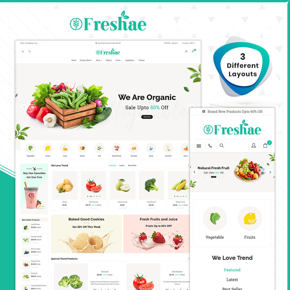 theme - Health & Beauty - Grocery Freshae – Fresh Fruit Shop - 1