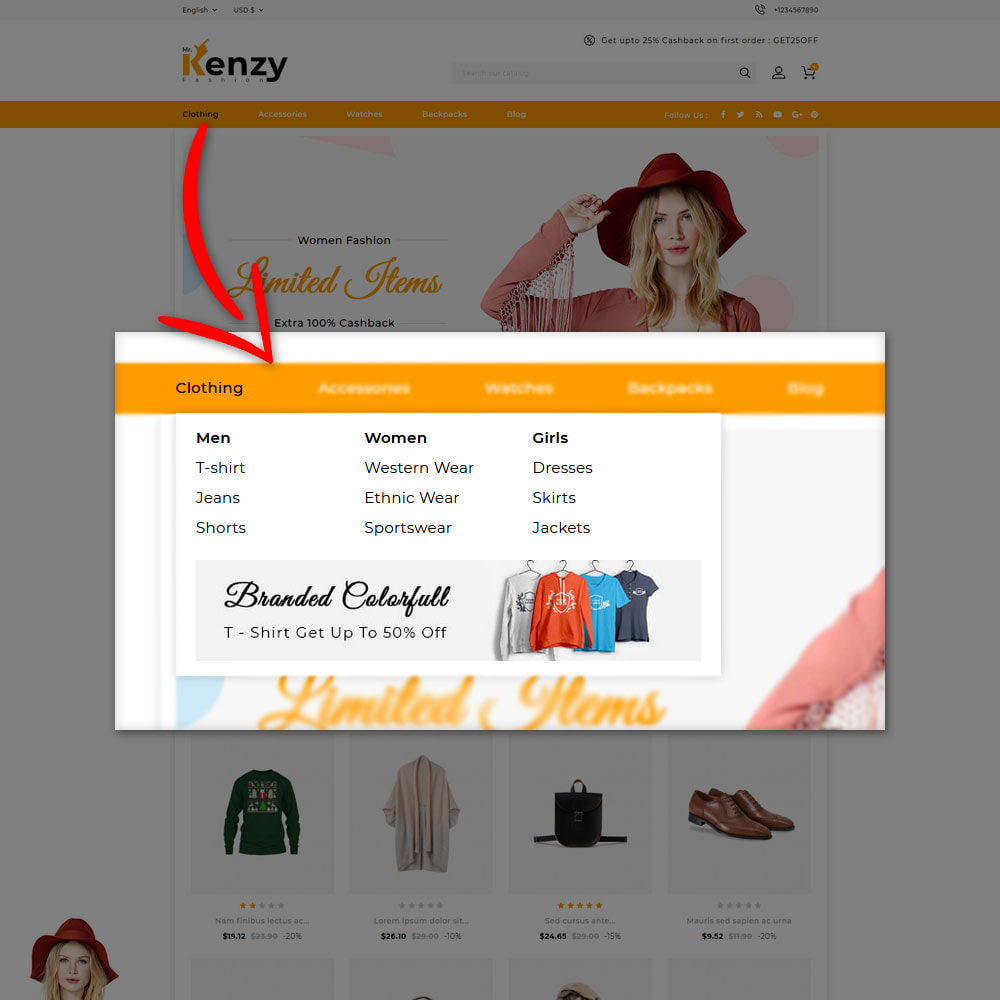 theme - Fashion & Shoes - Kenzy Fashion Shop - 6