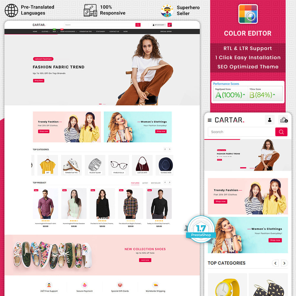 theme - Fashion & Shoes - Cartar - Fashion Store - 1