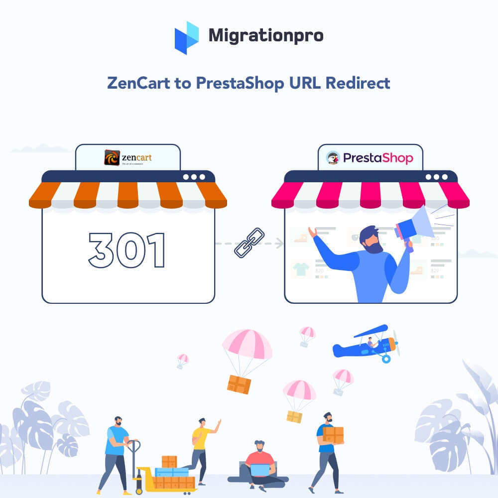 module - Data Migration & Backup - MigrationPro: Zen Cart To PrestaShop SEO Redirect - 1