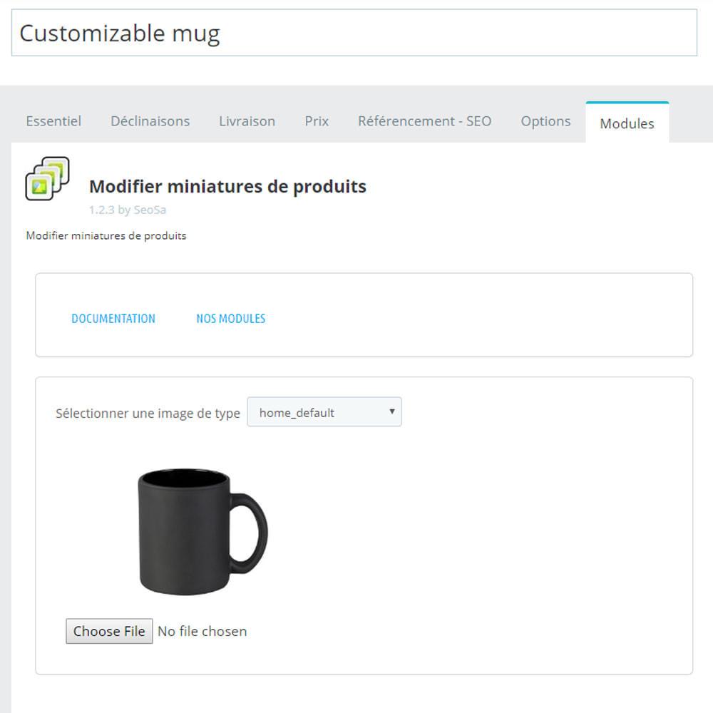 module - Visuels des produits - Editor - remplacement des miniatures - 5