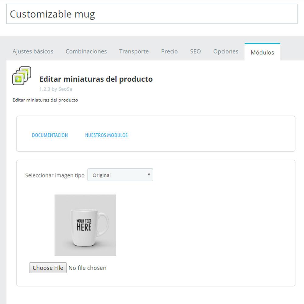 module - Fotos de productos - Editor - sustitución de miniaturas - 3