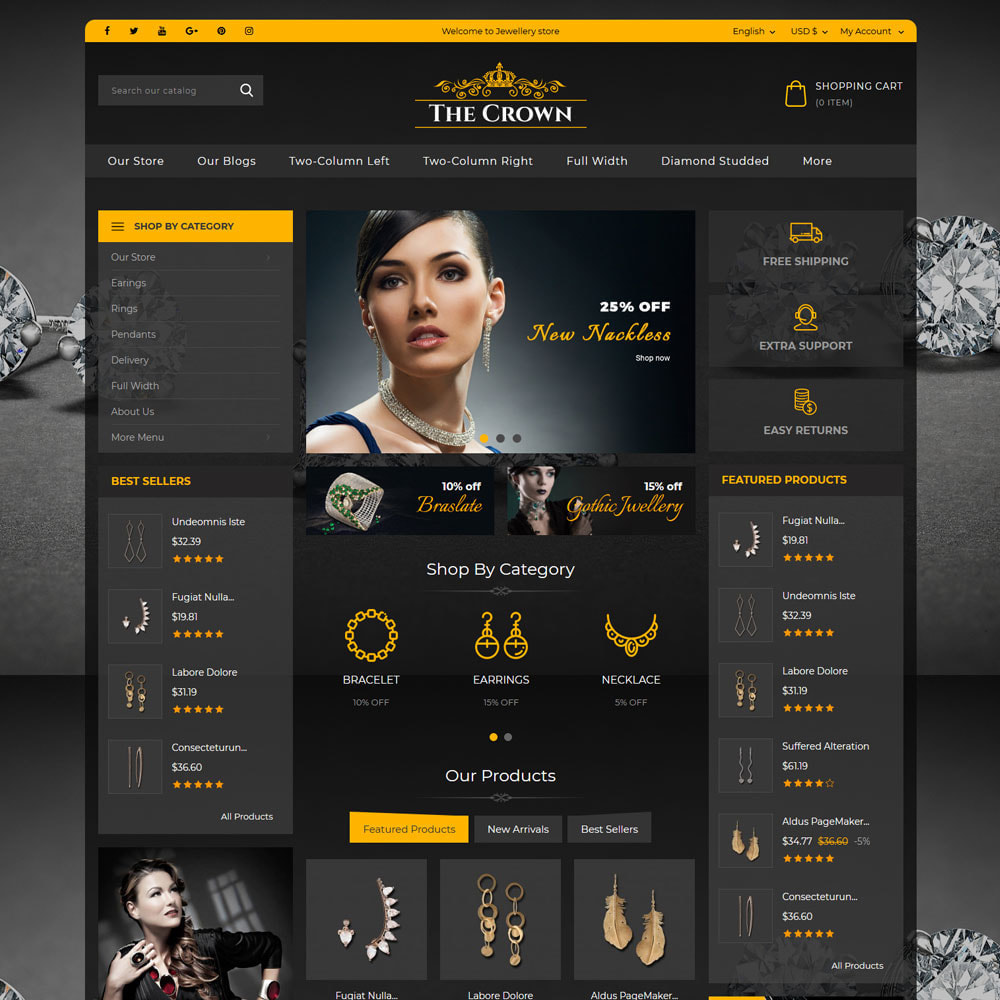 theme - Biżuteria & Akcesoria - Crown - The Jewellery Store - 3