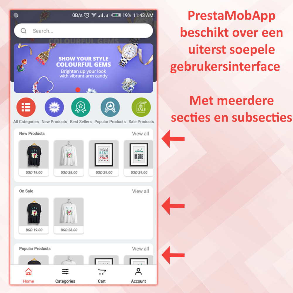 module - Mobiele apparaten - PrestaMobApp - Native App Builder voor Android en IOS - 3