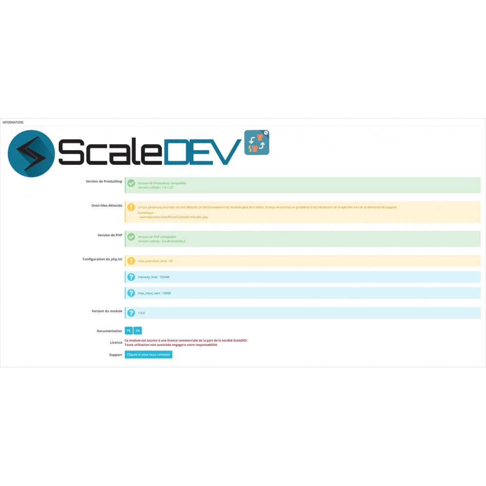 module - Information supplémentaire & Onglet produit - Remplacement et croisement de produits - 4