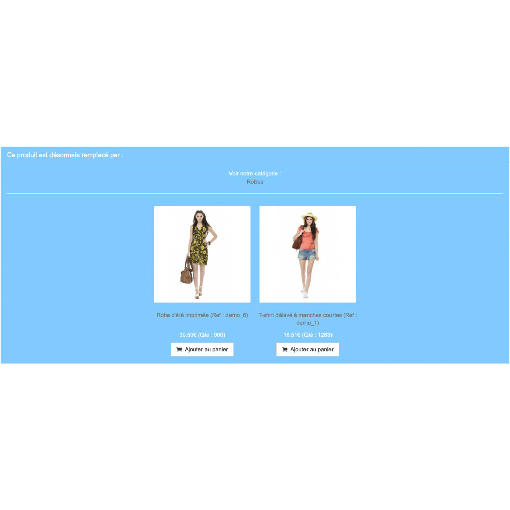 module - Additional Information & Product Tab - Product replacement - 10