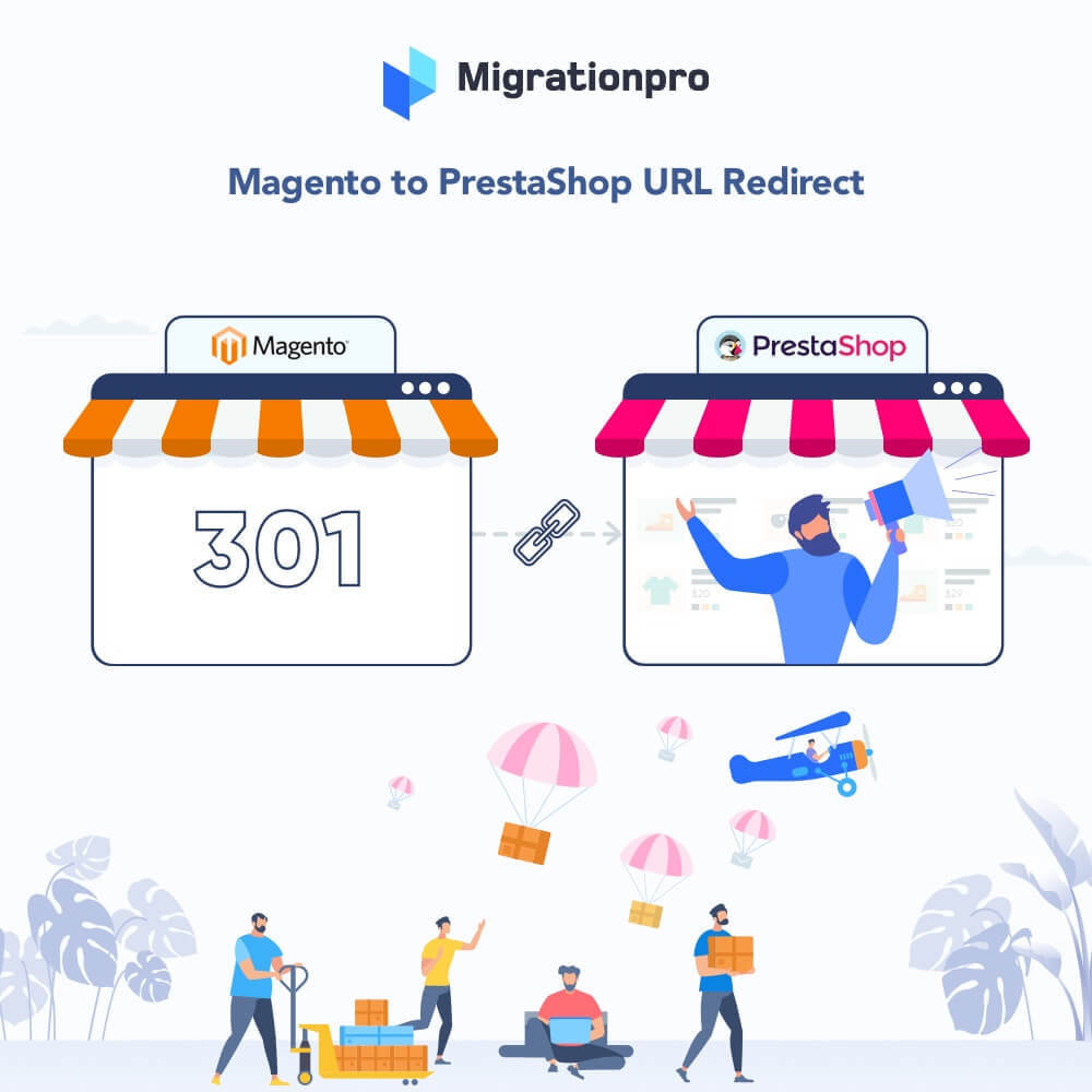 module - Migración y Copias de seguridad - MigrationPro: Magento to PrestaShop SEO Redirect - 1