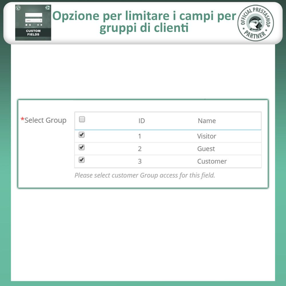 module - Iscrizione e Processo di ordinazione - Campi Personalizzati,  Aggiungi Campo alla di Checkout - 13