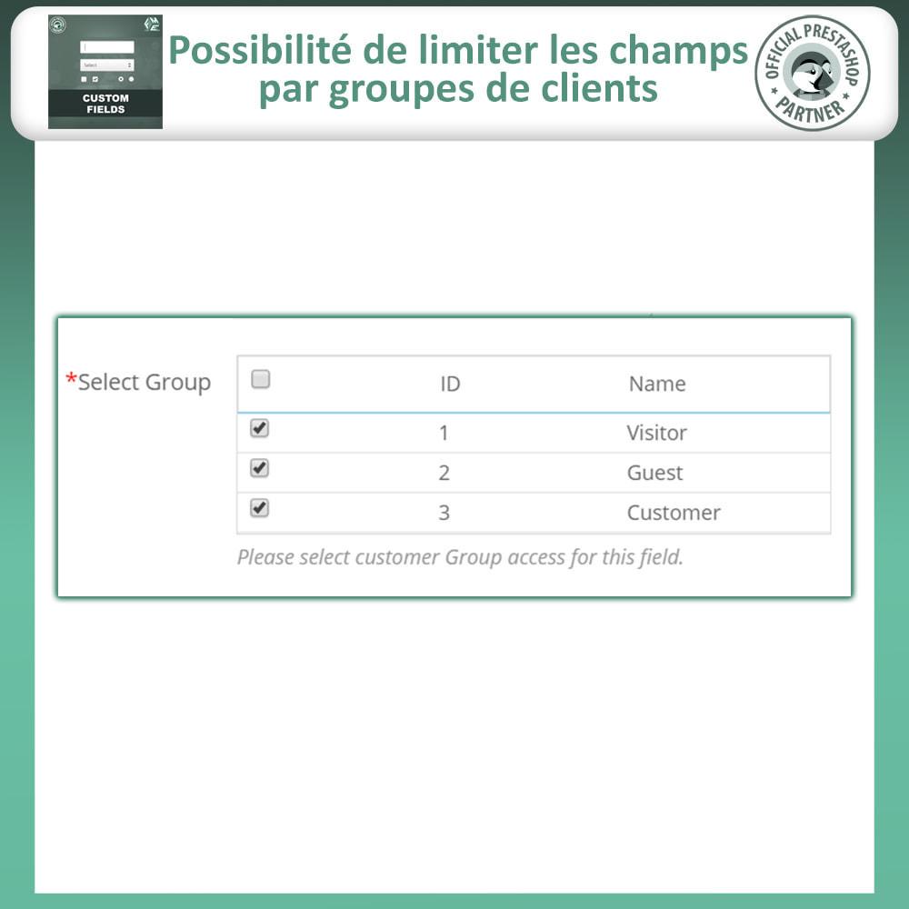 module - Inscription & Processus de commande - Champs paiement personnalisés, Ajouter des champs - 13