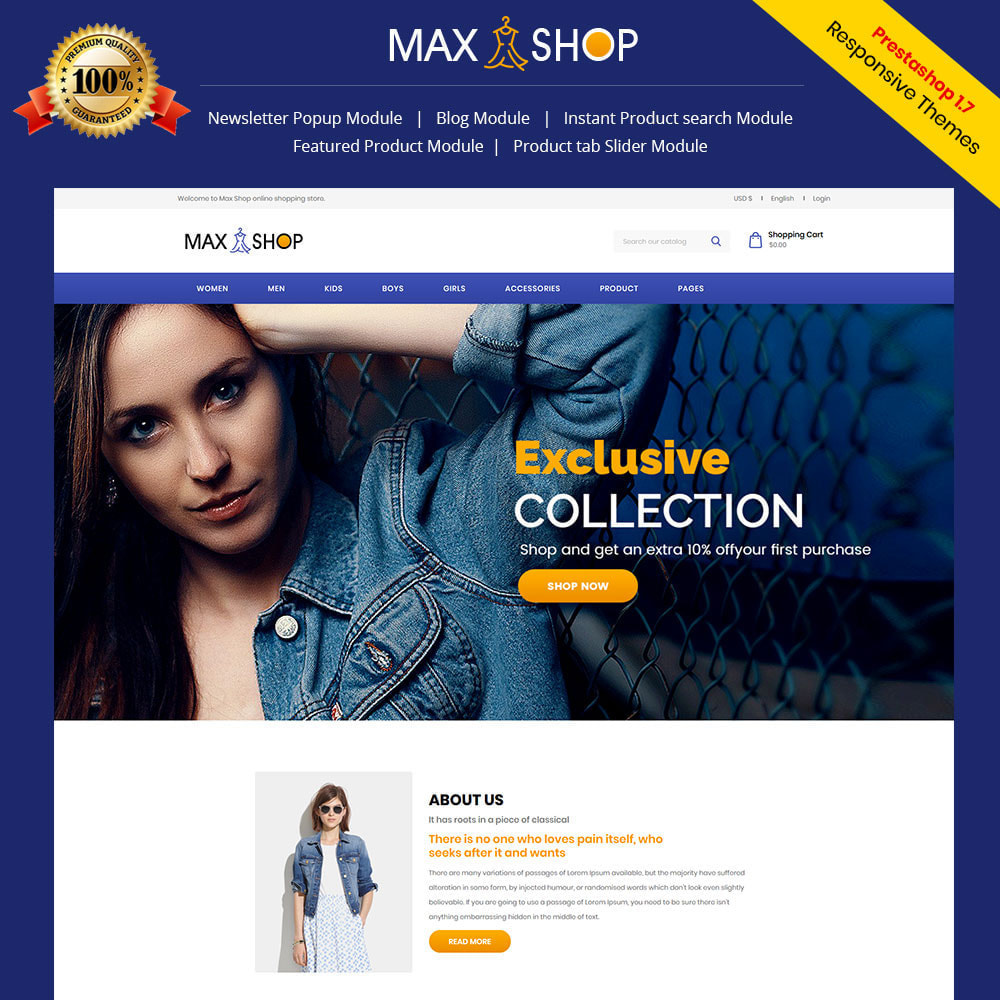 theme - Fashion & Shoes - Max Shop  - Fashion Dress Women Store - 1