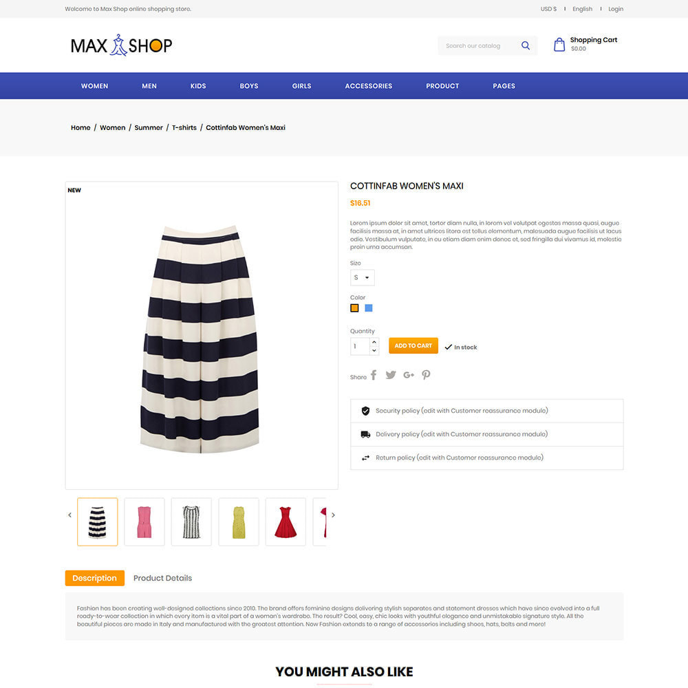 theme - Fashion & Shoes - Max Shop  - Fashion Dress Women Store - 5