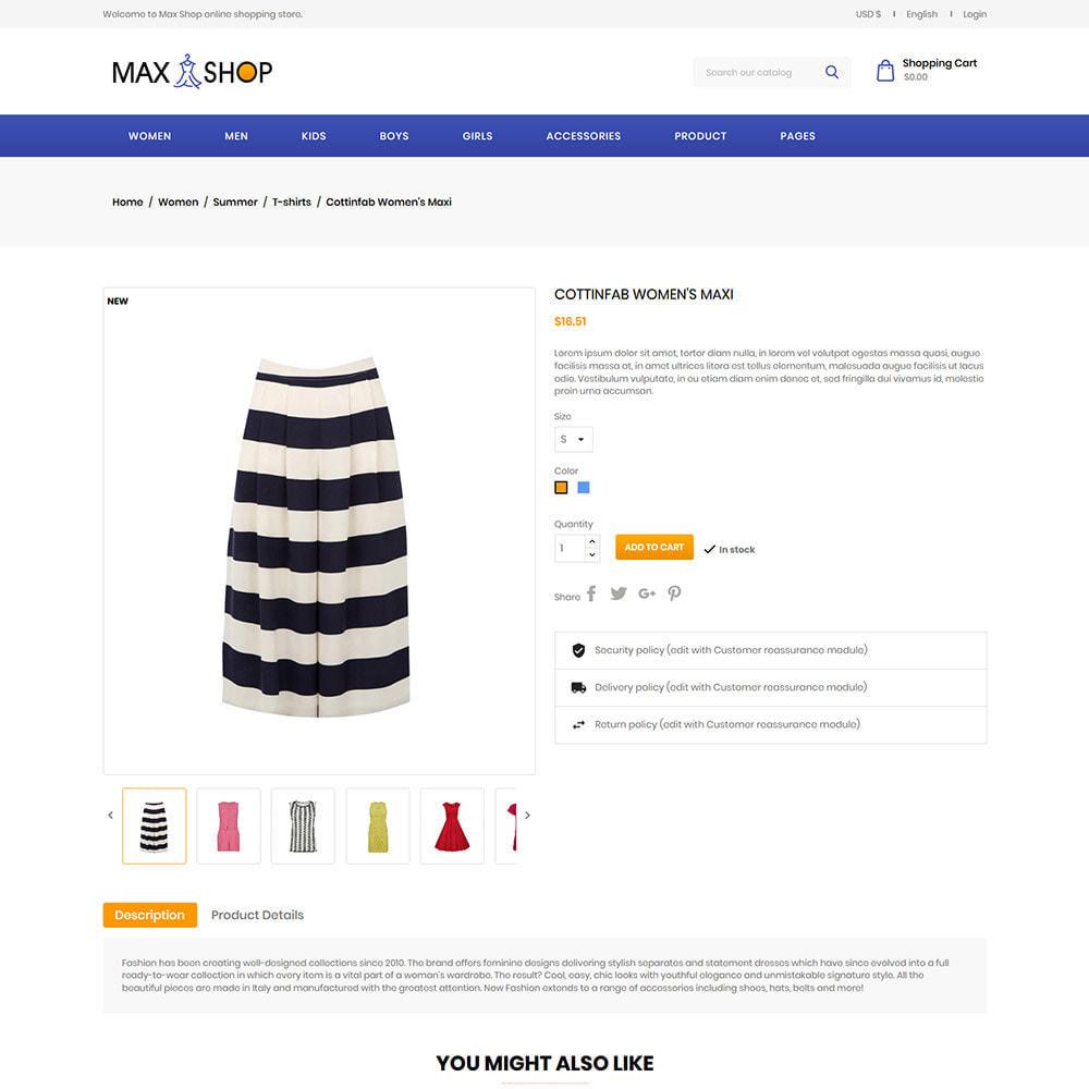 theme - Fashion & Shoes - Max Shop  - Fashion Dress Women Store - 5